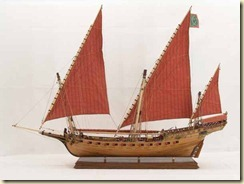 Model of Arabian-built xebec.